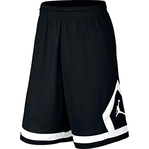 Nike Boys Air Jordan Flight Diamond Basketball Shorts Red Black Black White 953296 (Black, m)