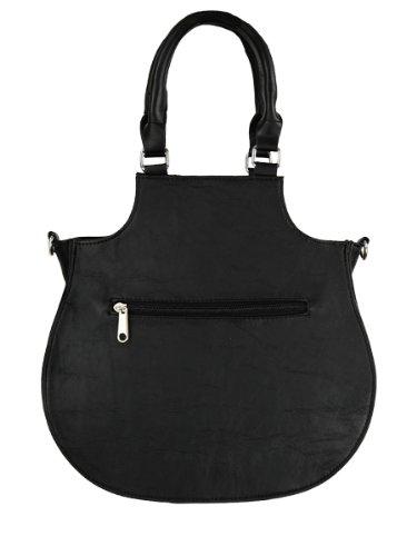 Restyle , Damen Schultertasche schwarz schwarz Einheitsgröße