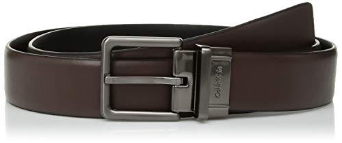 - Calvin Klein Men's 32MM Reversible F.Edge Panel, Dark Chocolate, 34