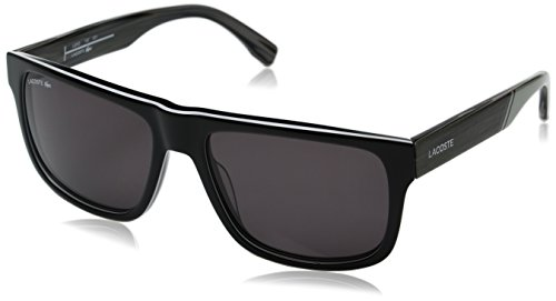 Lacoste Men's L826S Rectangular Sunglasses, Black, 57 - Lacoste Shades