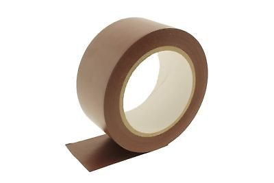 4pk 2'' Brown Durable Rubber Adhesive PVC Vinyl Sealing Coding Warning OSHA Caution Marking Safety Electrical Removable Floor Tape (1.88IN 48MM) 36 yard 7 mil