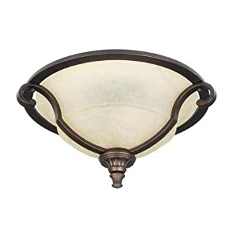 Home Decorators Collection Fairview 2 Light Flush Mount Heritage Bronze