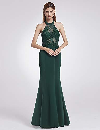 15a033737 Fiesta Mujeres07189 Elegante Largo De Encaje C Oscuro Noche Verde Vestidos  pretty Ever Las tA64t
