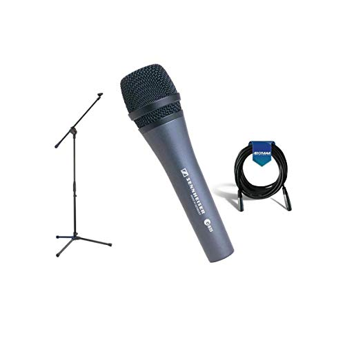 Sennheiser E 835 Dynamic Vocal Microphone Stand Cable Pouch Bundle