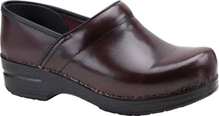 Professional Clog Cordovan Women's Box Dansko Leather qgp14wv