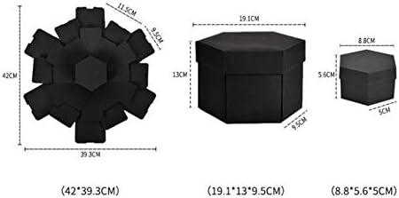 Motto.h - Caja para álbum de Fotos con 6 Caras, 5 Capas, Color Negro: Amazon.es: Hogar
