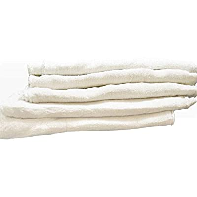 Pro's Choice White Auto Mechanic Rags (Pack of 25), Shop Towels (13 x 13 Inches) - 100% Cotton, Commercial Grade Wipers - Home, Garage, Auto Body Shop, Wiping Cleaning Oil Spills, Machinery, Tools: Automotive