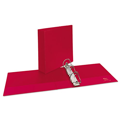 Avery 27204 Durable Binder with Slant Rings, 11 x 8 1/2, 3'', Red by Avery (Image #2)