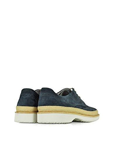 Hogan Homme HXM2170V110D54U806 Bleu Suède Chaussures À Lacets