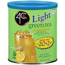 4C Light Iced Tea Mix Green Bonus 22qt (Pack of 4) by 4 C