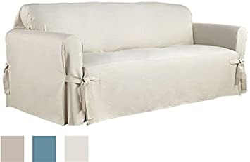 Amazing Serta Relaxed Fit Duck Furniture Slipcover For Sofa, Natural