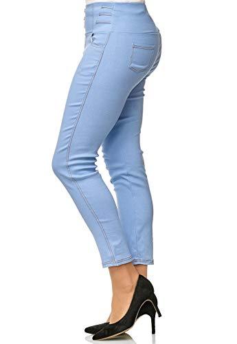 Tubo Jeans D2490 Alta Plus Treggings Blu Dimensione Vita Donne Corsetti Noname Pantaloni aqpFHw4