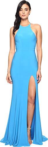 Faviana Women's Jersey Halter w/Back Cut Out 7976 Sea Blue 6