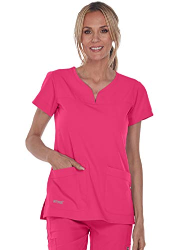 (Grey's Anatomy Signature 2121 Notch Neck Top Chateau Rose XXS)