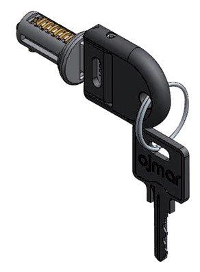 Ojmar - Cerradura para mueble intercambiable con llave maestra