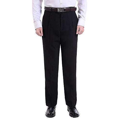 Dritti cool Di Nero Business Uomo Qualità Per Pantaloni 35 Professionali Zevonda Alta wCXSqR