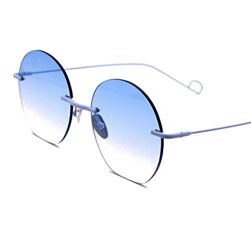 Zhangxin Lunettes de soleil femme, lunettes de soleil polarisées, lunettes de soleil sans cadre, grandes vacances encadrées, voyages en voiture