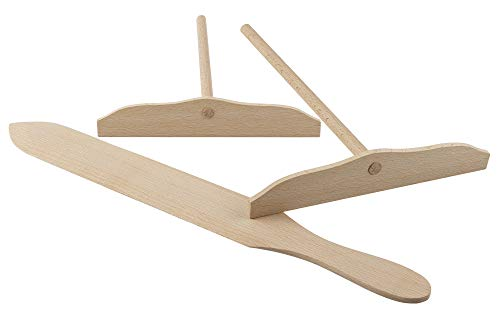 - BICB 3-Piece Natural Beechwood Crepe Spreader and Spatula Set (2X 7.1-inch Spreaders and 15.7-inch Spatula)