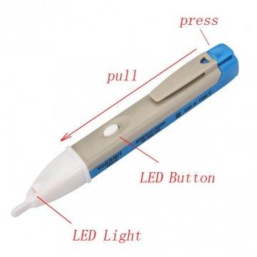 Bheema 90-1000V Induction Test Pencil Non-contact Electric Voltage Detector - Grey