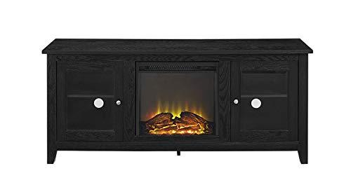 WE Furniture AZ58FP4DWBL Fireplace TV Stand 58