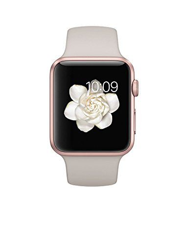 Apple Watch Sport 42mm Series 1 Rose Gold Aluminum Case with Stone Sport Band (Certified Refurbished)