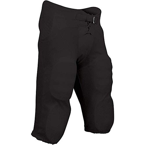 CHAMPRO Adult Integrated Pant with Built-in Pads, Black, Small