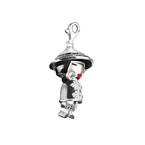 Thomas sabo 0295-041-11 chinois-t pendentif en argent avec zircon noir motif coloré émaillé