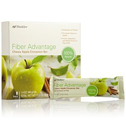 Shaklee Fiber Advantage Chewy Apple Cinnamon Bar (8 bars)