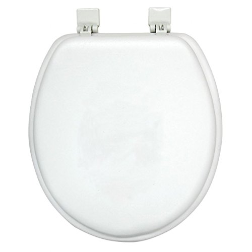 Ginsey Home Solutions Soft Toilet Seat - Padded for Extra Comfort - For Standard Toilets - Includes All Necessary Components for Installation - White