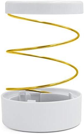 Hillento hohler Stifthalter, Metall/Gummi-Teleskopstift-Stifthalter, Organizer für Schreibwaren für Zuhause, Schule, Schreibtisch, Make-up-Pinsel, Gold