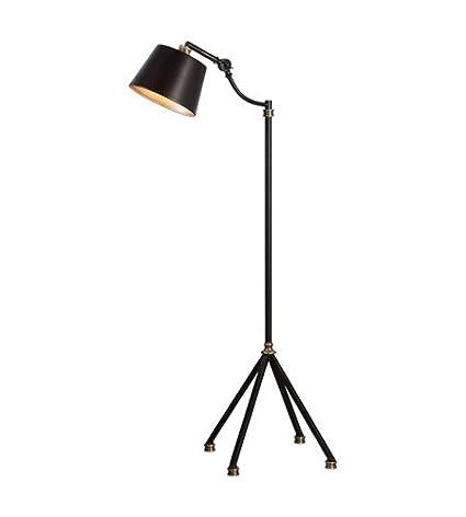 Amazon.com: Lámpara de pie 1 luz con hierro negro óxido mate ...