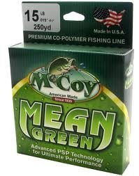 McCoy Fishing Line, Mean Green, 250-Yard/25-Pound