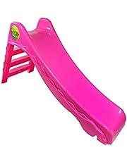 زحليقة التنين الكبيرة 3 درج البلاستيك للحدائق ورياض الأطفال لون وردي