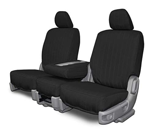 Custom Fit Seat Covers for Chevy/GMC 40-20-40 Style Seats - Black Canvas...