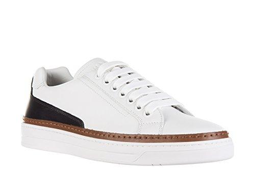 Prada chaussures baskets sneakers homme en cuir nevada calf blanc