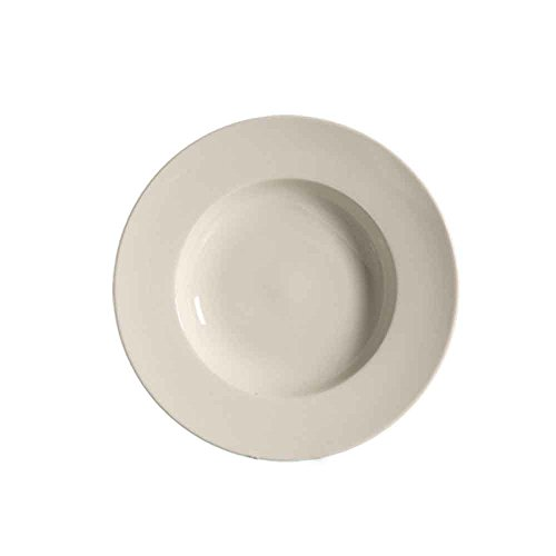 CAC China REC-121 Rolled Edge 18-Ounce American White Stoneware Round Pasta Bowl, 12 by 12 by 1-3/4-Inch, 12-Pack by CAC China (Image #2)