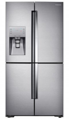 """Samsung RF22K9381SR 36"""" Counter Depth French Door Refrigerator with 22 cu. ft. Total Capacity, in Stainless Steel"""