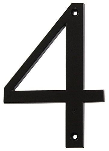 Distinctions by Hillman 843144 4-Inch Flush-Mount Black House Number -