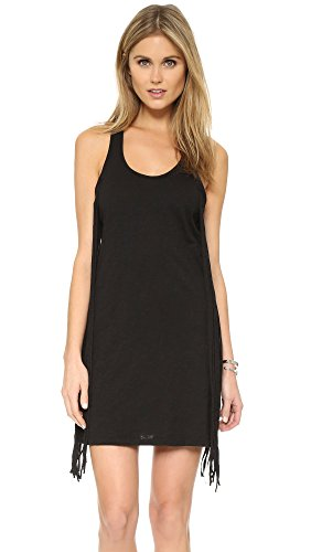 bobi Women's Fringe Mini Dress, Black, - Womens Bobi Dress