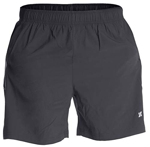 Fort Isle Men's Running Shorts - M- Gray - Quick Dry Breathable - Gym, Workout, Yoga, Training