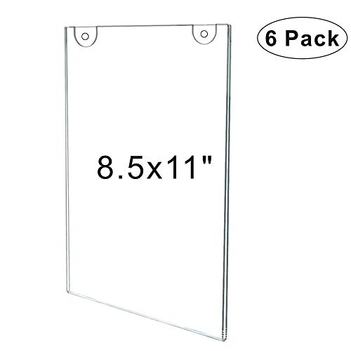 Acrylic Wall Mount Sign Holder 8.5
