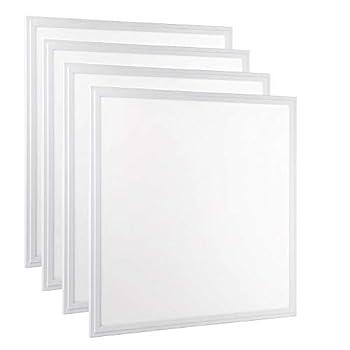 Image of 2x2 LED Flat Panel Light, Allsmartlife 4-Pack 2x2FT LED Panel Light Dimmable 4000K Bright White, 0-10V 40W(140W Equivalent) - White Frame, 4147 Lumens, 100-277V - DLC-Qualified and Lighting Facts Home and Kitchen