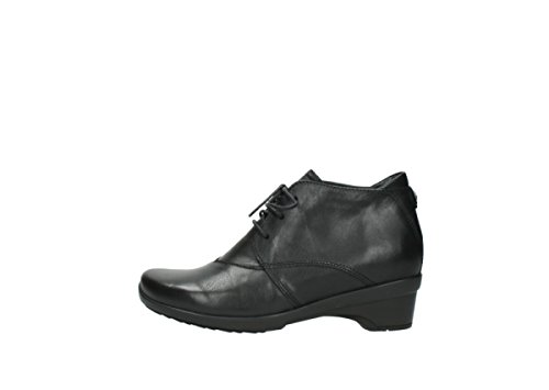 leather Wolky nbsp;Montana 07653 Chaussures black lacets Confort à 20000 OxUC8RwO