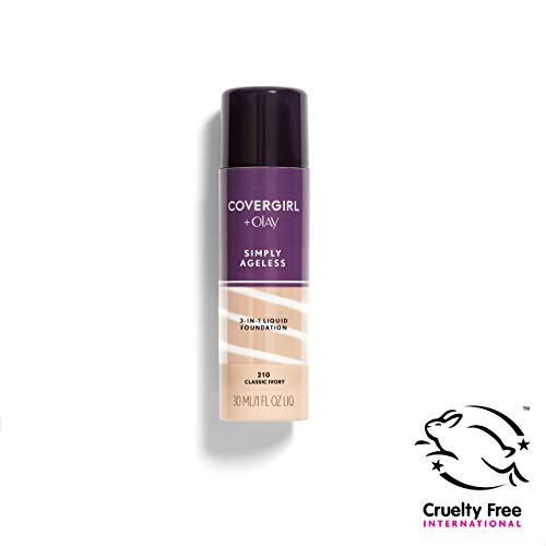COVERGIRL + Olay Simply Ageless 3-in-1 Liquid Foundation, the #1 Anti-Aging Foundation Now In A Liquid, Classic Ivory Color, 1 Fluid Ounce (packaging may vary) from COVERGIRL