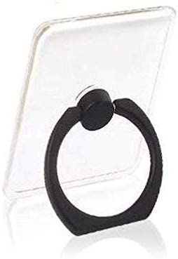 Sprint4Deals Cell Phone Ring Holder, Transparent Phone Ring Grip Holder, Adjustable 360 Rotation Finger Ring Stand for Smartphones Tablets (Black)