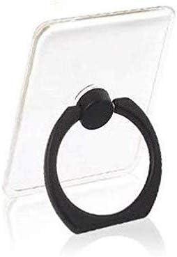 Sprint4Deals Cell Phone Ring Holder, Transparent Phone Ring Grip Holder, Adjustable 360 Rotation Finger Ring Stand for Smartphones Tablets (Black)