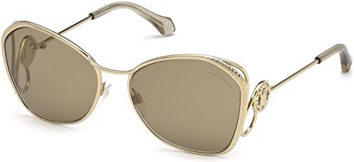 Roberto Cavalli Glasses - 2018 Roberto Cavalli Gavorrano RC-1062 Women Gold Metal Butterfly Mirror Sunglasses