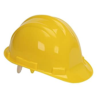 AUK SA022-Y - Casco de seguridad, arnés de terileno ABS, color amarillo: Amazon.es: Amazon.es