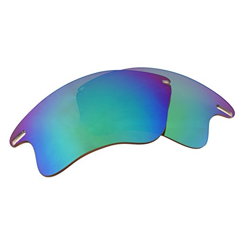 LenzFlip Replacement Lenses Oakley FAST Jacket XL - Brown Polarized with Green - Lenses Jacket Replacement Fast Oakley
