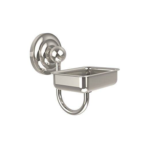 Allied Brass QN-WG2-PNI Que New Collection Wall Mounted Soap Dish, Polished Nickel